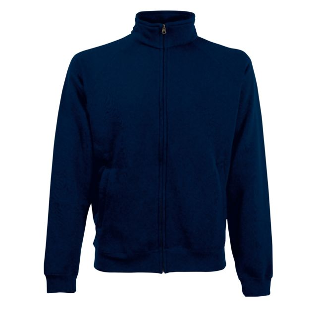FRUIT OF THE LOOM Sweatshirt à fermeture zippée 1 quart - Homme L, Bleu marine profond Utrw3166