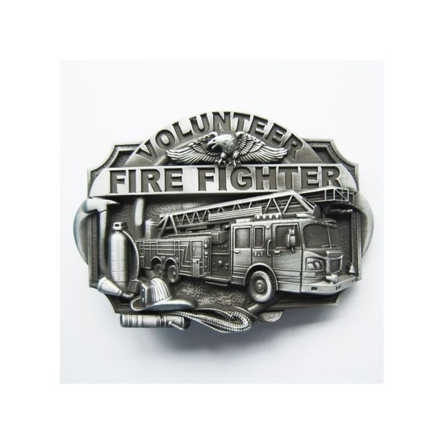Universel - Boucle de ceinture pompier volontaire et camion brut homme fd093433b20