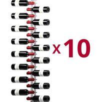 Visiorack - Lot de 10 supports muraux de 16 bouteilles de 75cl - Chrome Aci-vis601x10