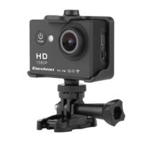 Alpexe - Caméra Sport 30M Étanche 1080p 12M, Tc-y8 WiFi, Hd H264 + Kit d'Accessoires - Noir