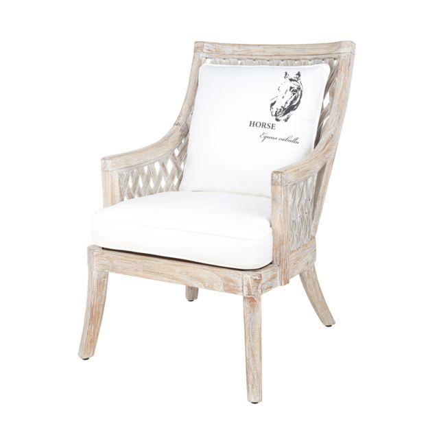 rotin design fauteuil begur en bambou et bois bois gris - Fauteuil Bambou