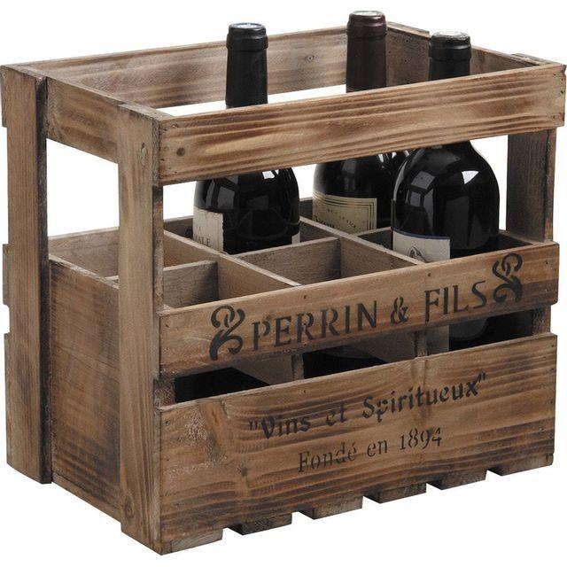AUBRY GASPARD Caisse en bois pour bouteilles de vin