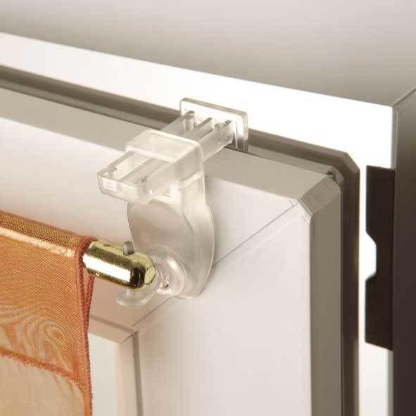 Made Costore - Support auto-serrant pour barres et tringles à rideaux Access Transparent