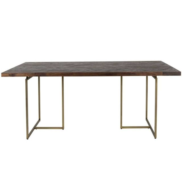 Inside 75 - Dutchbone Table repas Class en acacia Marron - 75cm x 180cm