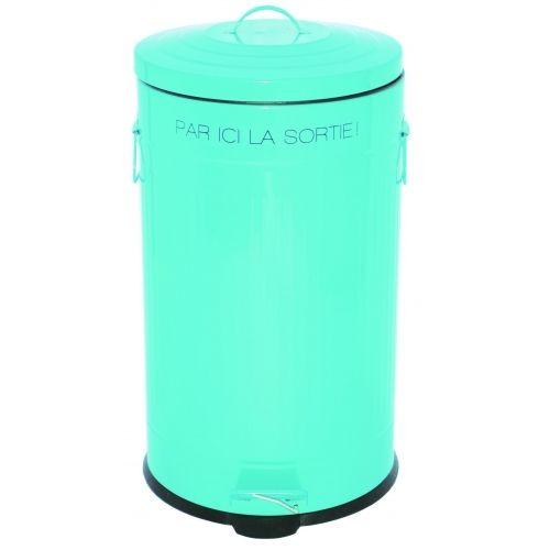 Incidence Poubelle De Cuisine A Pedale Retro En Inox 50 Litres