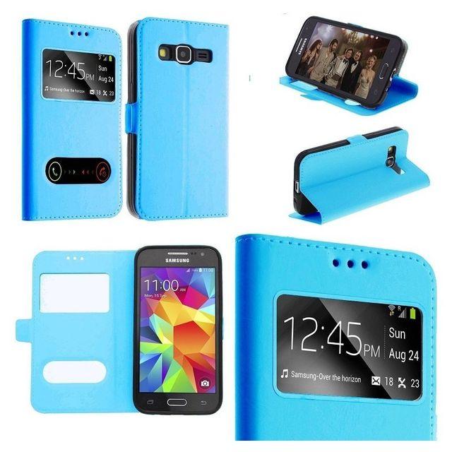 Etui Housse Coque Pochette Turquoise Interieur Silicone Samsung ...