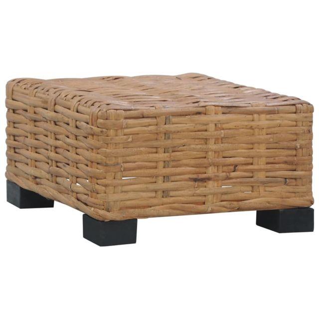 Vidaxl Table Basse Rotin Naturel Table d'Appoint Canapé Salon Maison Intérieur