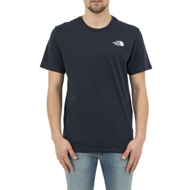 1e31bc6d8f992 The north face - Tee shirt 2tx5 simple dome bleu - pas cher Achat / Vente  Tee shirt homme - RueDuCommerce