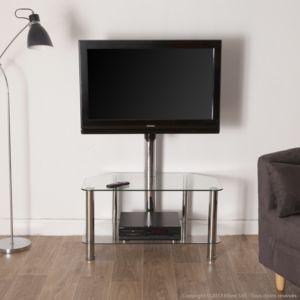 axe design - meuble tv avec fixation pivotante 2 niveaux métal ... - Axe Design Meuble