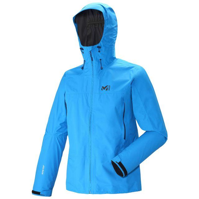 millet veste de protection 2 5 couches gore tex grays peak gtx electric blue homme pas cher. Black Bedroom Furniture Sets. Home Design Ideas