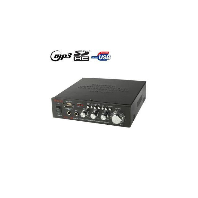 Auto-hightech Karaoke Ampli stéréo et Lecteur Mp3 Sd et Usb