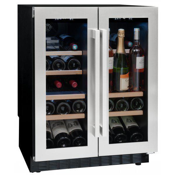 Avintage Cave à vin de service - 2 temp 42 bouteilles - Inox Aci-avi603E - Encastrable