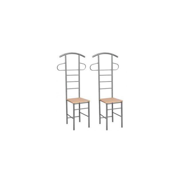 Top prix - Superbe Chaise valet de nuit bois et métal design unique ...