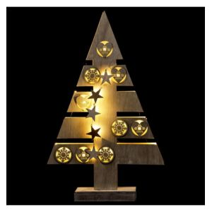 Jja sapin de d co lumineux blanc chaud 15 led int rieur for Sapin led interieur