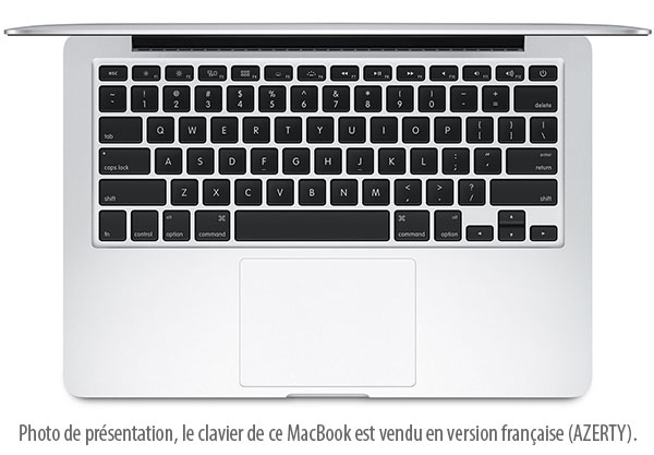 achat apple macbook pro 13 retina 128 go mf839f a argent ordinateur portable 13 3. Black Bedroom Furniture Sets. Home Design Ideas