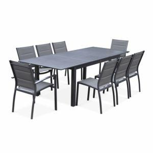 alice 39 s garden chicago anthracite gris fonc 8 places pas cher achat vente ensembles. Black Bedroom Furniture Sets. Home Design Ideas