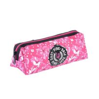 Love Pink - Trousse rectangulaire Flower Power rose