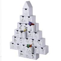 Sapin De Forme Calendrier Avec Blanc H35cm L'avent Motifs n8wvmN0