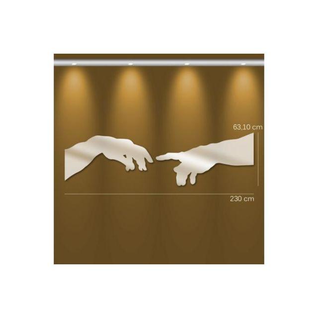 Declikdeco Miroir création d'Adam Gm argenté en verre Urania 63 x 230 cm