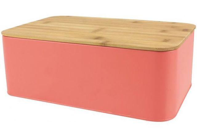 declikdeco boite a pain avec couvercle en bambou coloris rose l31cm irmine pas cher achat. Black Bedroom Furniture Sets. Home Design Ideas