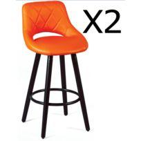 X Ht Lot Tabourets Bar 47 65 Orange DimL Cm Ass 47 P Coloris 91 De 2 qRAj3Lc54