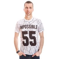Celebry Tees - Tshirt Impossible Crack Blanc