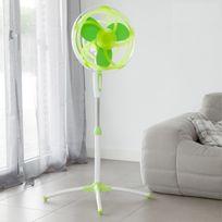 Heva - Ventilateur Sur Pied Vert Avec Pales En Caoutchouc Eva Oh My Home 45W