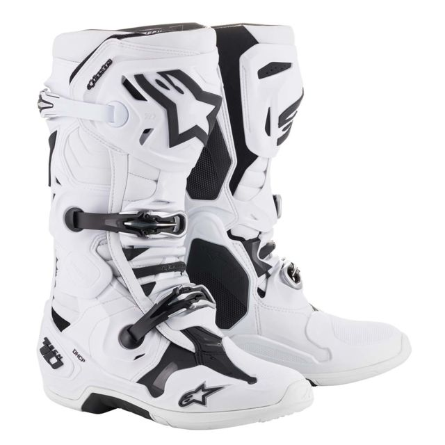 Bottes Moto Cross Tech 10 White 44.5
