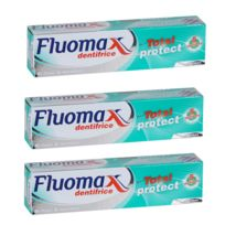 Fluomax - Lot de 3 Dentifrices Total protect 5 Actions - Bi-fluor & Menthol