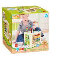 CARREFOUR BABY - Cube multi activités en bois pour bébé - TY021899