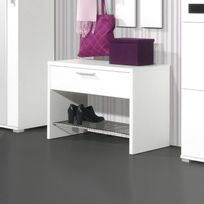 Marque Generique - Banc / Repose Chaussures 4 paires - L75xP35xH50cm - Primus - Blanc