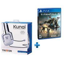TRITTON - Casque Stéréo - Kunai BLANC PS3/PS4/VITA, + TITANFALL 2 - PS4
