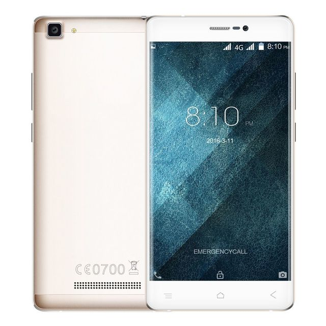 Yonis Smartphone 4G Android 6.0 5.5 Pouces Hd Quad Core Dual Sim Gps 16Go Or