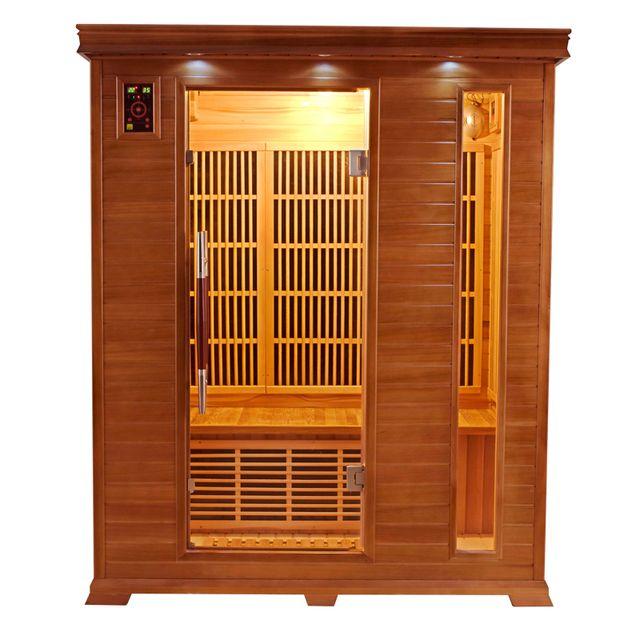 france sauna luxe 3 sauna infrarouge pas cher achat vente saunas chaleur infrarouge. Black Bedroom Furniture Sets. Home Design Ideas