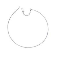Collection Zanzybar - Collier jonc rigide en argent pour pendentif Modèle Claudia