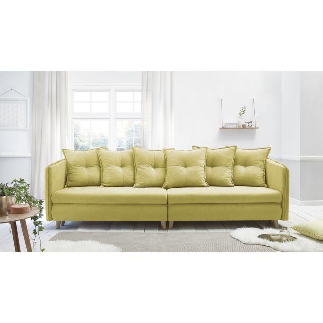 bobochic canap opti sofa 4 places convertible jaune achat vente canap s pas chers. Black Bedroom Furniture Sets. Home Design Ideas