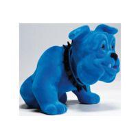 Declikdeco - Figurine chien bouledogue assis bleu