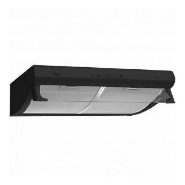 Totalcadeau Hotte standard intégrable avec témoin lumineux 60 cm 235 m /h 130W E Noir - Hotte de cuisine