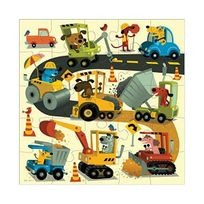 MudPuppy - Construction Jumbo Puzzle