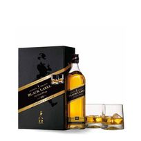 Johnnie Walker - Whisky Black Label + 2 Verres - 70cl