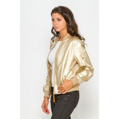 0bd612c36646a Princesse Boutique - Bomber doré simili cuir - pas cher Achat ...