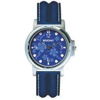 Beuchat - Montre Femme ou Adoslescente Bleu motifs flerus bleues - Beu9984
