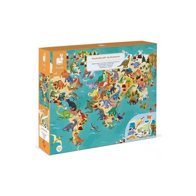 Juratoys-janod Puzzle educatif les dinosaures 200 pieces