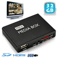 Yonis - Mini passerelle multimédia lecteur vidéo Hd 720p Hdmi Tv Sd Usb 32 Go