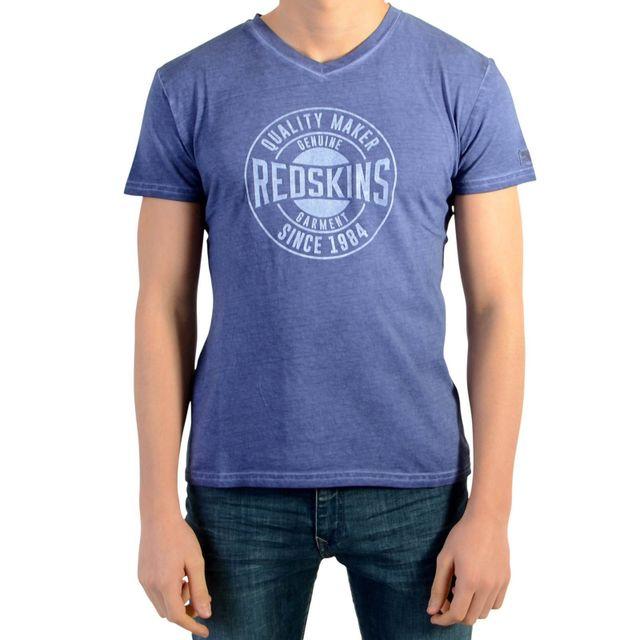 204b0a0b88634 Redskins - Tee Shirt Enfants Rosario Bleu Azul - pas cher Achat   Vente Tee  shirt enfant - RueDuCommerce