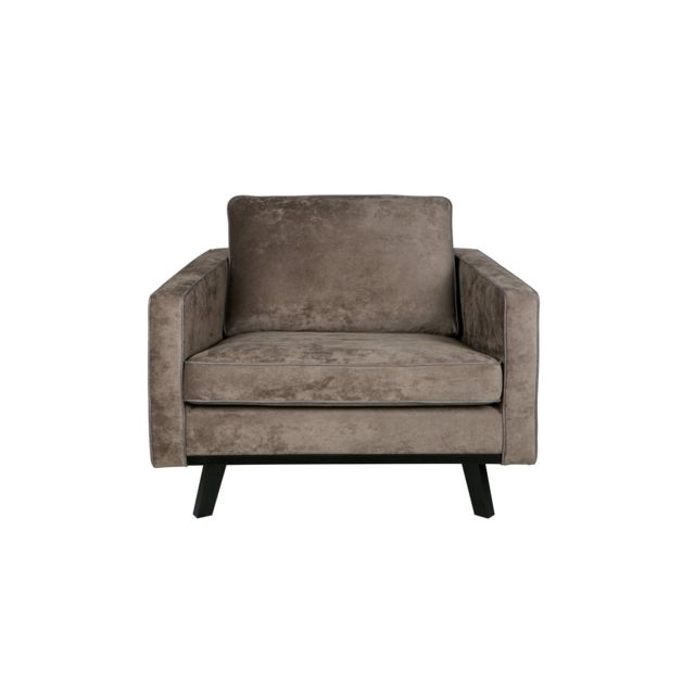 BEPUREHOME Fauteuil brun - Collection Rebel