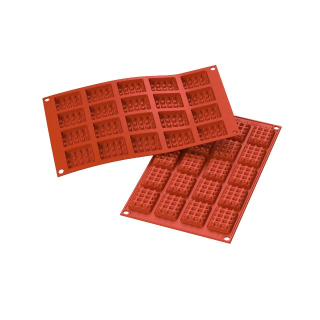 Guery Moule silicone mini gaufres ou tablettes chocolat rectangle