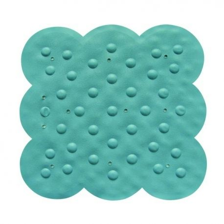 Msv tapis caoutchouc de douche bleu 54x54