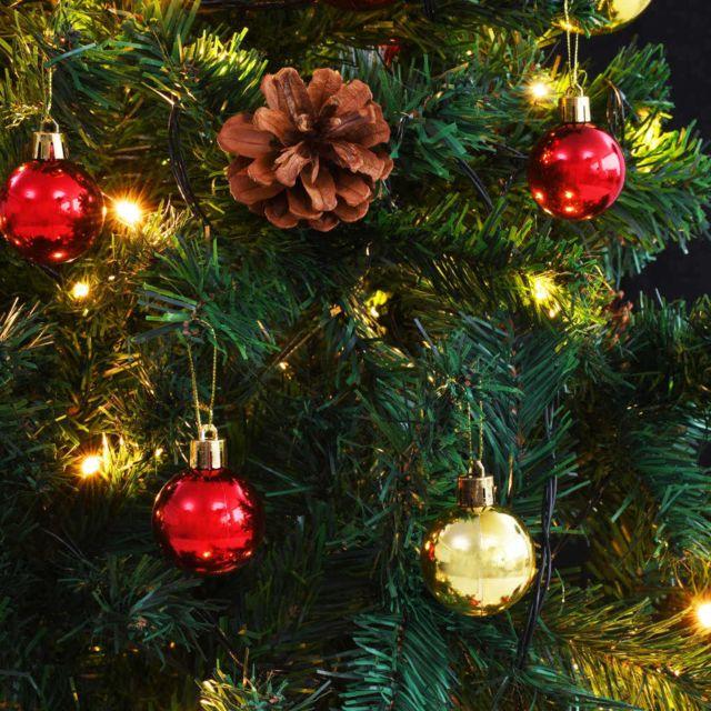 4 Pièce Guirlande Sapin à 270 cm Noël Intérieur et Extérieur
