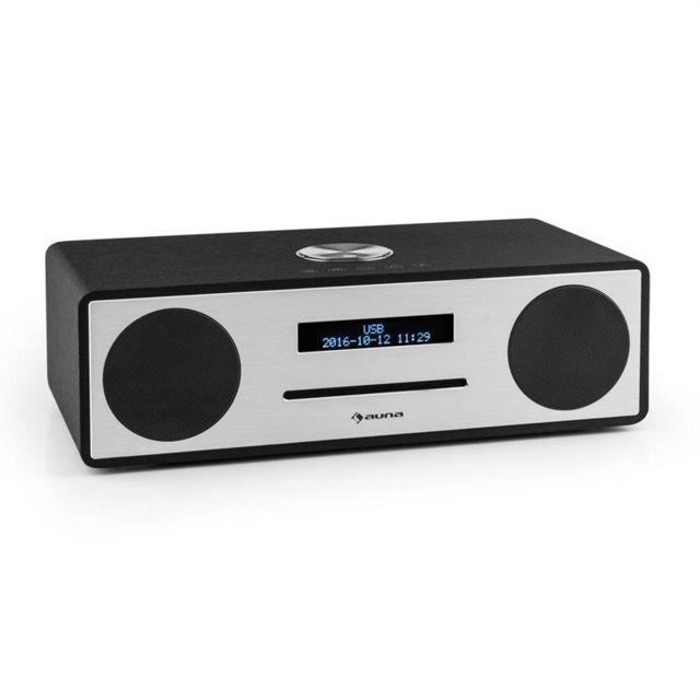 auna stanford radio lecteur cd dab dab bluetooth usb mp3 aux fm noir pas cher achat vente. Black Bedroom Furniture Sets. Home Design Ideas
